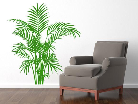wandtattoo dekorativer farn. Black Bedroom Furniture Sets. Home Design Ideas