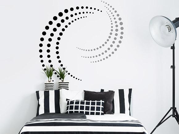 wandtattoo punkte design. Black Bedroom Furniture Sets. Home Design Ideas