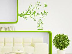 wandtattoo ast mit kirschbl ten. Black Bedroom Furniture Sets. Home Design Ideas