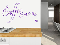 wandtattoo caf komposition mit kaffeetasse. Black Bedroom Furniture Sets. Home Design Ideas